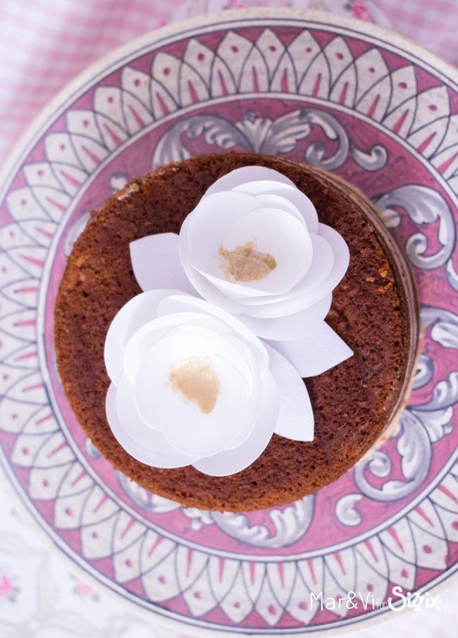 Flores de papel de oblea