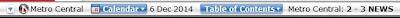 theStar ePaper left top horizontal menu bar