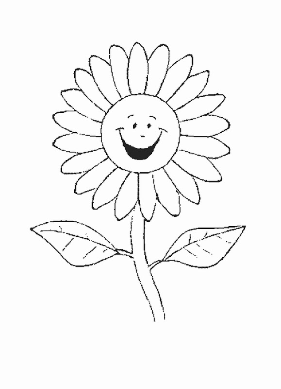 Kids Flower Coloring Pages title=