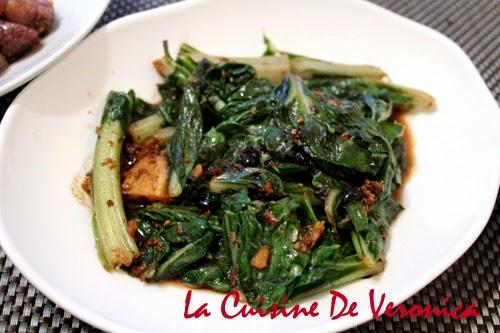 La Cuisine De Veronica 蒜頭豆豉炒豬乸菜