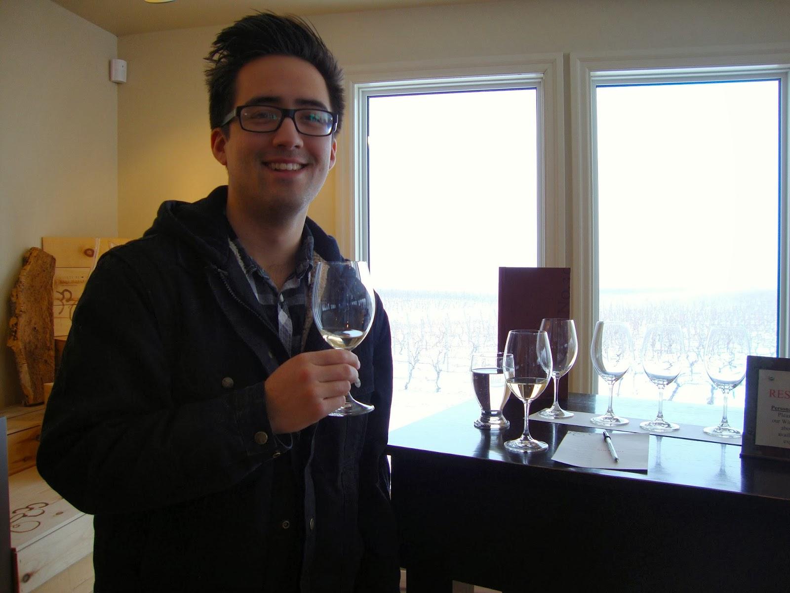 Meet Thomas, my boyfriend and wine tasting partner in crime.