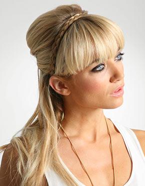 Peinados A La Moda Trenza Vincha Elegancia Y Sofisticacion Moda