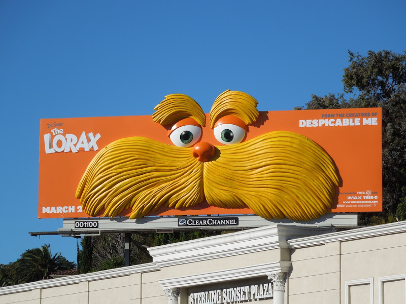 The Lorax special installation billboard