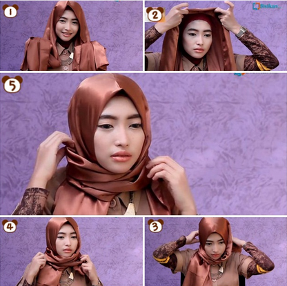 Tips Hijab Untuk Wajah Lonjong