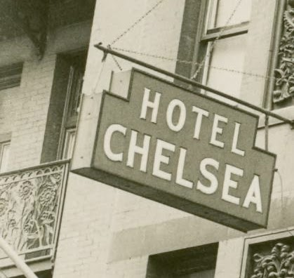 Before The Neon Sign Went Up In 1949 Chelsea Hotel Had These Opal Or Opalescent Glass Signs Which Were Internally Lit By Incandescent Bulbs