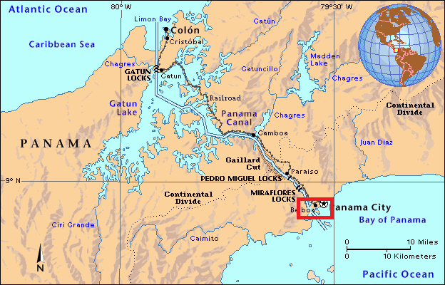 an overview of the panama canal in the caribbean sea