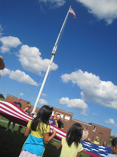 Stars and stripes over Fort McHenry
