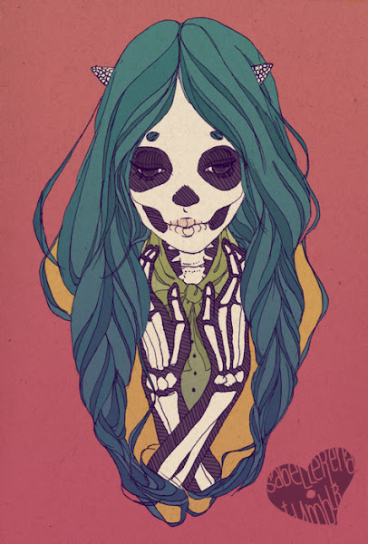 Skull Girl Drawing Tumblr