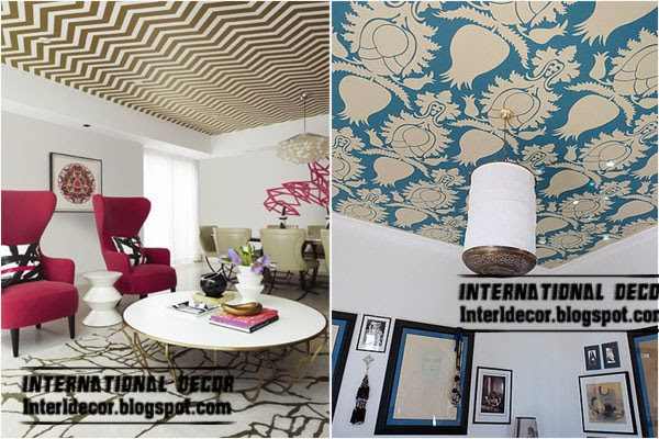 Patterned Wallpaper On The Ceiling, Decorative Ceiling Coverings