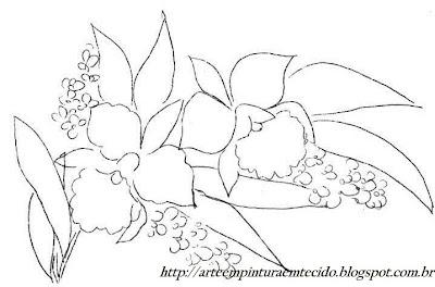risco pintura em tecido pano de prato flores