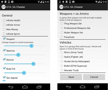 how to enter cheats gta san andreas android