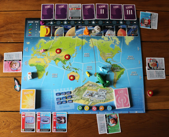 Thunderbirds Co-operative Board Game - gameplay setup