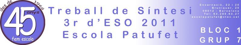 TS 3r d'ESO 1011 Bloc 1 - Grup 7