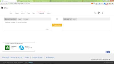 Bing Translator, Translate berbagai bahasa