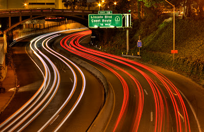 photographing light trails