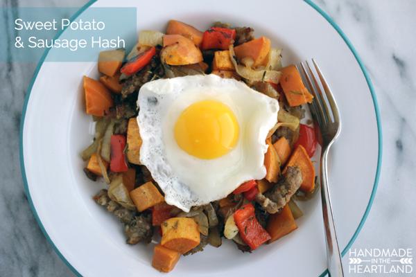 Sweet Potato & Sausage Breakfast Hash, Paleo Recipe