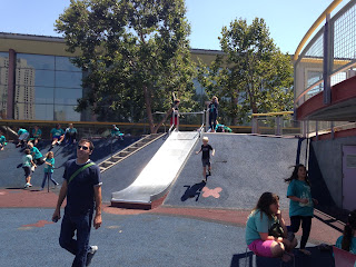 Yerba Buena Gardens playground--built on the roof of the Moscone Center