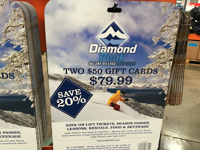 Save 20% when you buy 2 $50 Gift Cards for Diamond Peak in Lake Tahoe