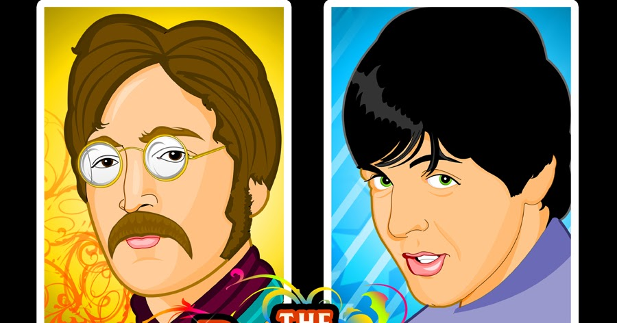 cartoon pictures of the beatles