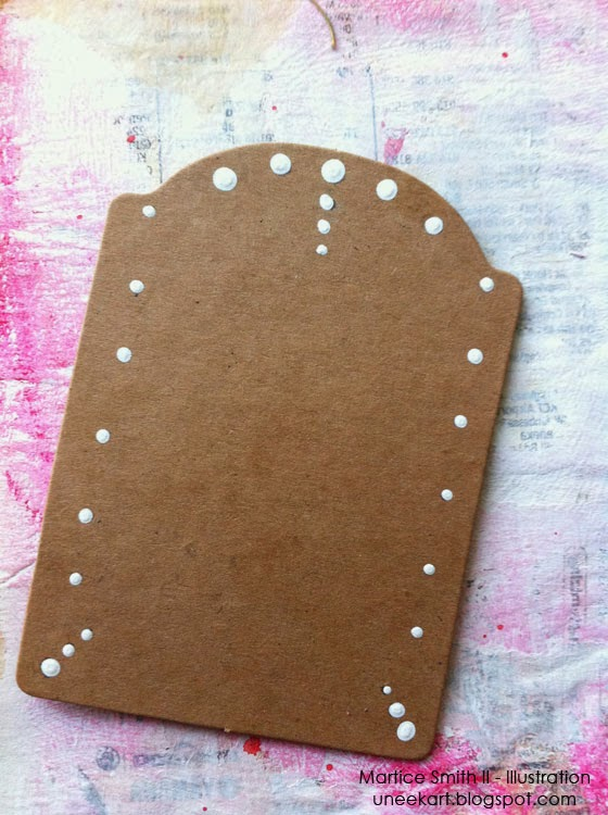 embellish with white dots