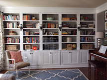 DIY Built in Bookshelves Library Wall