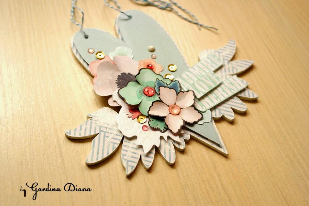 Альтер-скрап: необычная цветочная композиция на валентинке