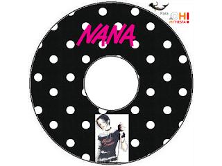 Etiquetas de Nana para CD's.