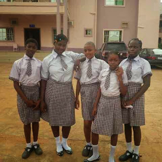 Mercy Johnson goes to school