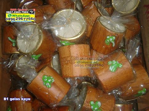 gelas kayu jual