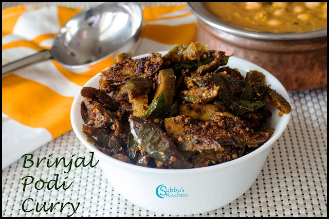 Brinjal Podi Curry Recipe | Kathirikkai Podi Pota Curry