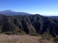 View east toward Summit 3397 from Glendora Mountain, Angeles National Forest