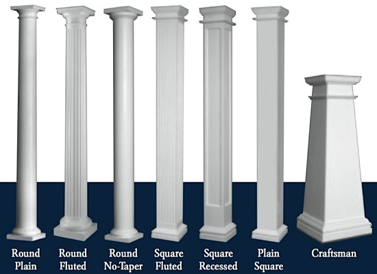 Pillars In Living Spaces Exterior Design