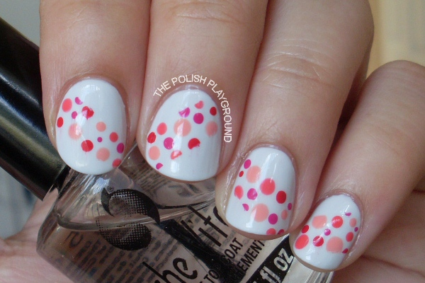 Polka Dot Tape Nails