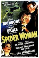Portada película Sherlock Holmes y la mujer araña