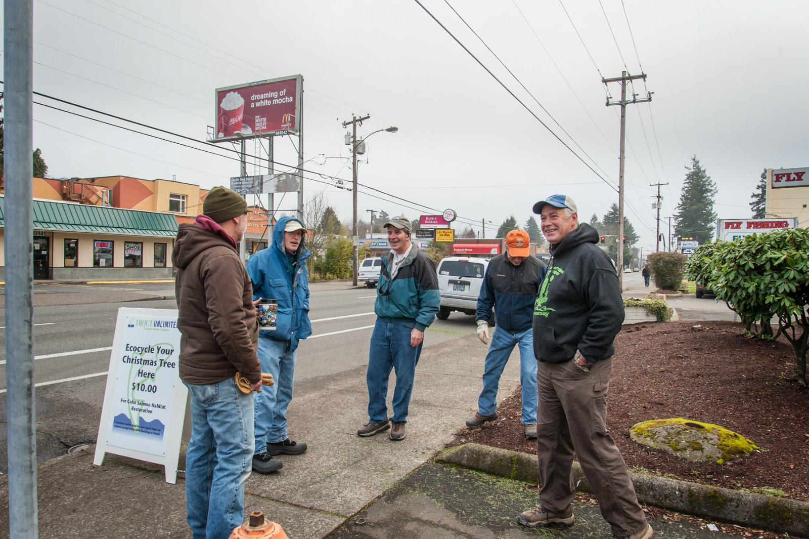 Tv trout unlimited christmas for coho tree collection day one for Northwest fly fishing outfitters