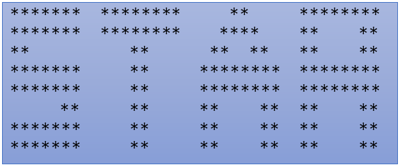 Stars pattern in C