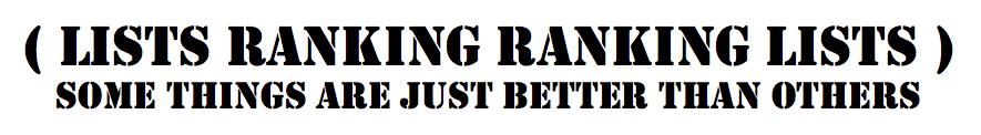 lists ranking ranking lists