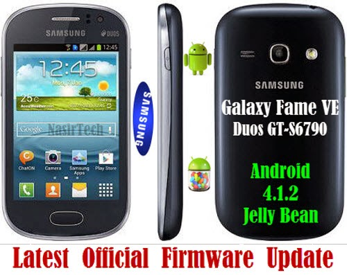 JB Official Firmware for Galaxy Fame VE Duos GT-S6790 [How to Guide
