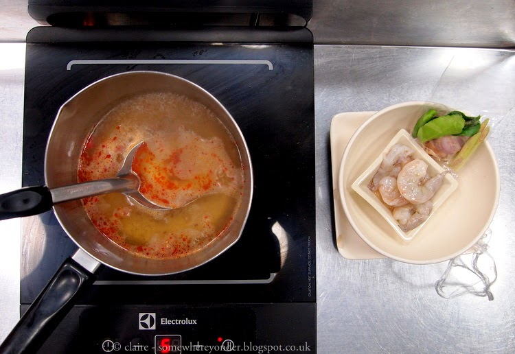 Hot and sour prawn soup - Pum Cooking School, Thailand