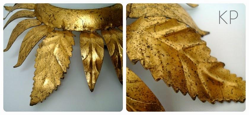 Comprar aplique de bronce dorado con pan de oro