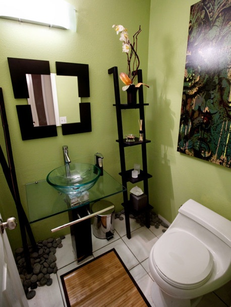 Baños Color Verde Oscuro:Small Bathroom Decorating Ideas Colors