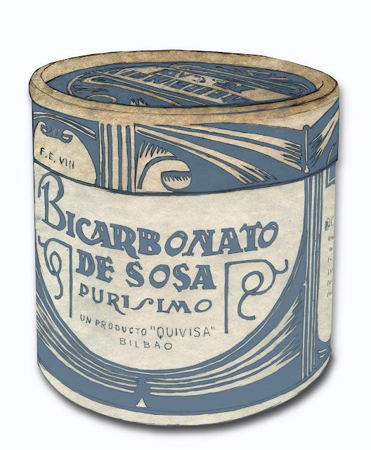 Bicarbonato de sosa, dibujo