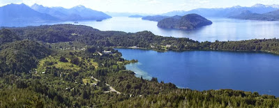 spectacular landscape in bariloche panoramic point