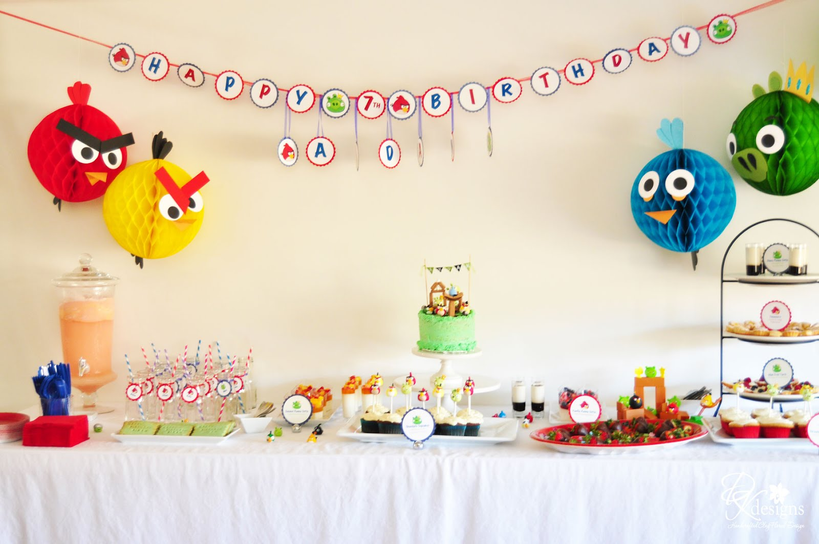 DK Designs: My Son\'s Angry Birds Themed Birthday Party Photos