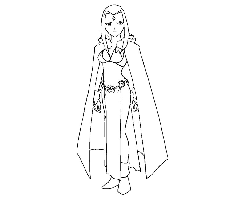free coloring pages of raven in teen titans