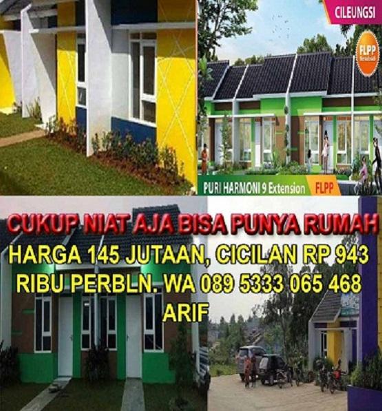 Solusi Rumah Subsidi CIleungsi, Bogor