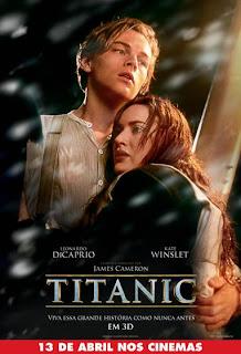 """Cartaz do relançamento de """"Titanic"""" em 3D"""