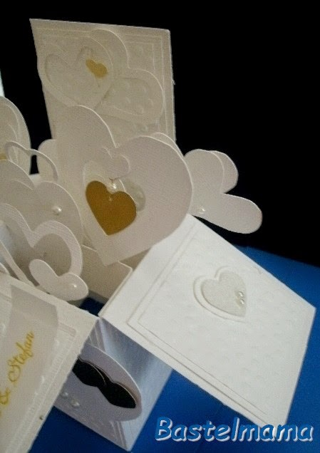 pop up box-card, Hochzeit
