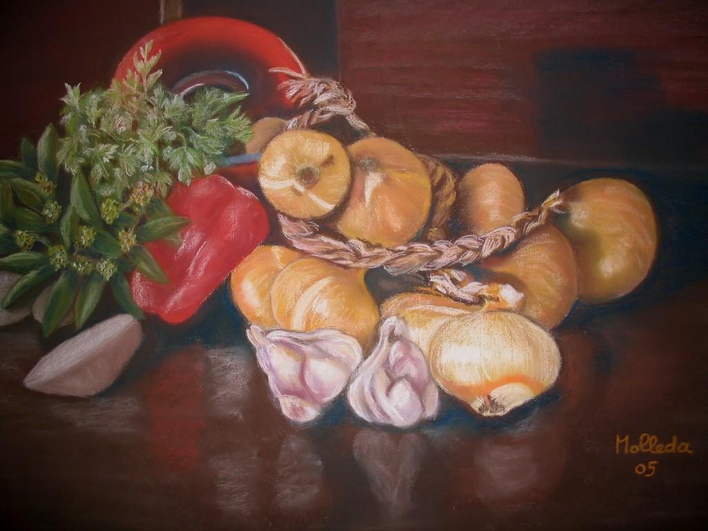 Entre telas y pinturas mas pinturas for Cocinar para 9