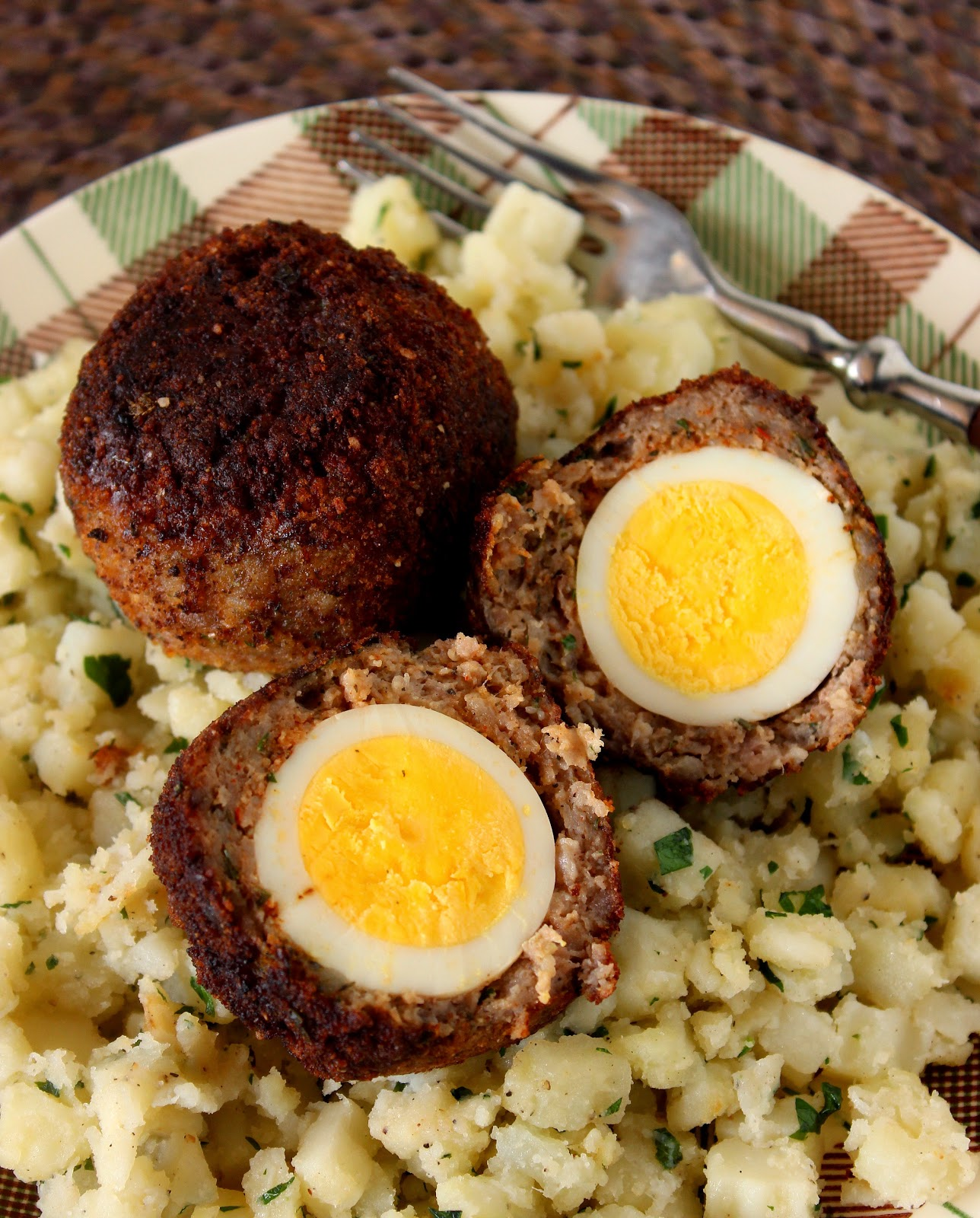 Scotch Eggs Recipe via Kudos Kitchen By Renee